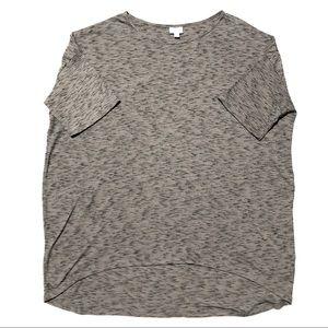 LuLaRoe Light Gray & Black Classic T Shirt